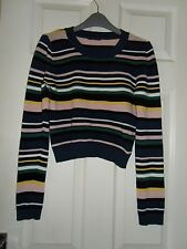 Topshop Casual Striped Cropped Tops & Shirts for Women