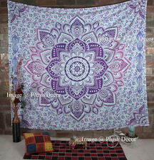 Large Pink Mandala Tapestries Indian Hippie Wall Tapestry Beach blanket throw
