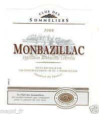 Etiquette de vin - MONBAZILLAC 2008 (184)