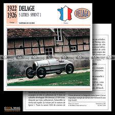 #072.08 DELAGE 5.1 L 5 LITRES SPRINT 1 (1922-1926) - Fiche Auto Car card