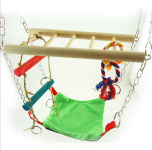 UK  Suspension Bridge Hanging Toy with Hammock Bed Hamster Mouse Cage Nest