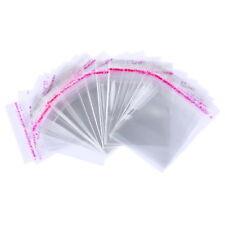 200 Pochettes Autocollant Plastique Transparent 5x7cm