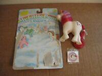 My Little Pony moondancer unicorn Rose G1 white  silky hair1983 w/sticker