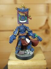 LIMITED EDITION PLASTIC WARHAMMER SPACE MARINE CAPTAIN PAINTED (175)