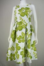 Eliza J Womens Size 6 Dress White & Green Floral Fit & Flare Party Tea New NWOT