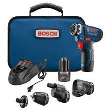 Bosch GSR12V-140FCB22 12V Cordless Screwdriver Kit  5-in-1 Multi-Head Drill Set