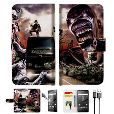 Iron Maiden Wallet TPU Case Cover For Sony Xperia Z5 Premium-- A014