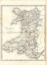 LATE VICTORIAN MAP OF WALES, SHOWING RAILWAY ROUTES - WILLIAM MACKENZIE (c1880)