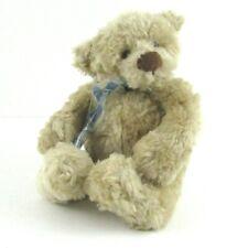 Gund Teddy Bear Plush Stuffed Animal Toy Marshall Light Brown Tan Blue Bow 15019