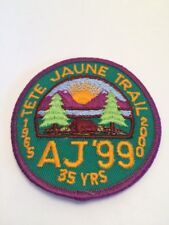Vtg Tete Jaune Trail AJ 99 Scouts Canada Sew On Patch Scouting Cubs Beavers