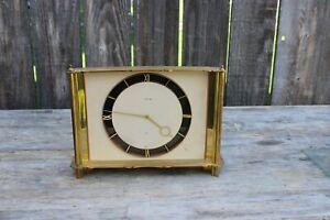 vintage jaeger le coultre  swiss mantle clock