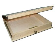 Plain nuova in legno chiudibile a chiave Box/LIBRERIA/contenitore con una chiave - 18x21x4.5cm -
