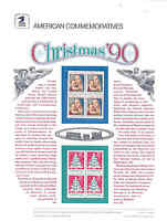 UNITED STATES COMMEMORATIVE PANE 1990 CHRISTMAS