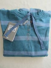 MUSTO Womens Stripe Hoodie  UK Size: 8 Petrol/Airforce Lifestyle LS0460