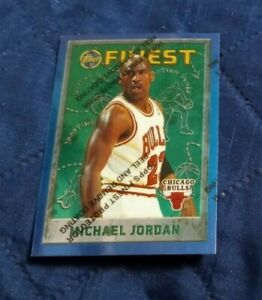 1995-96 Topps Finest Michael Jordan Card #229 w/ cover nm - mint (see scan)
