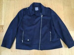 PRINCIPLES  Faux Suede Navy Jacket     Size 24
