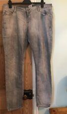 ASOS Grey Distressed  Skinny Jeans Plus Size 18
