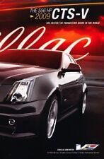 2009 Cadillac CTS-V 556hp 2-page Original Advertisement Print Art Car Ad J952