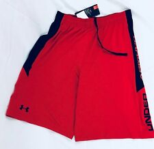 Under Armour Men's Athletic Shorts Heat Gear Red Black 1309770 Size M