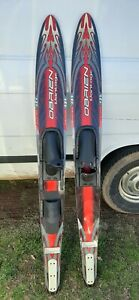 OBRIEN Vantage 172 Dual Tunnel Water Skis Adjustable Bindings ~ Great Condition