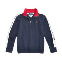 Tommy Hilfiger Little Boys Colorblocked Quarter-zip Cotton Pullover
