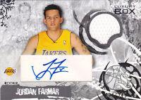 2006-07 Topps Luxury Box RC Relic Autographs #JF Jordan Farmar Auto Jersey #/249
