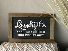 Laundry Wooden Sign plaque Country Beer,GARAGE,Shed, Bathroom,Laundry Home decor
