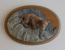 Avon American Wildlife Collection Hand-Painted Plaque - Cougar 1987