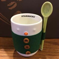 Starbucks Limit Edition ❤ Snowman Mug Cup+Clothes Sleeve+Spoon 8oz Gift