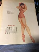 "Vintage September 1955 sexy risque pin-up calendar page by Petty  8"" x 10"""