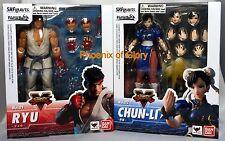 New Bandai Tamashii S.H Figuarts Street Fighter V Ryu And Chun-Li Set