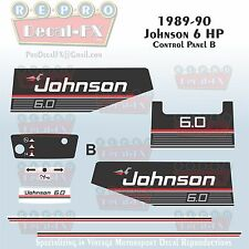 1989-90 Johnson 6 HP B Sea-Horse Outboard Reproduction 9 Pc Marine Vinyl Decals