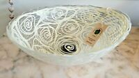 MURANO  Glass Handcrafted Center Piece Made in Italy Beige Ivory