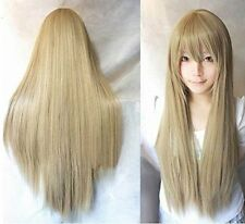 """32""""/40""""Black White Pink Red Blue Grey Silver Brown Long Cosplay Wig Fancy Wigs"""