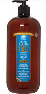 ARGANIA SPINOSA Organic Moroccan Gold Argan Oil Conditioner 1L rrp £27