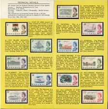 BAHAMAS #252-262 Souvenir Card BRITISH Commonwealth Postage Stamp Collection HH