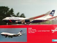 Herpa Wings 1:500 533393  British Airways Boeing 747-400 – 100th anniversary Lan