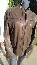 Scully Leather 980 Taupe Brown Lamb Motorcycle Jacket (L)