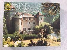 """Golden Guild Chateau De La Caze France Jigsaw Puzzle 500 Pc 18"""" x 15 1/2"""" 1993"""