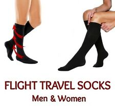 TRAVEL SOCKS UNISEX LONG HAUL FLIGHT JOURNEY COMPRESSION ACHY LEGS FEET VARICOSE