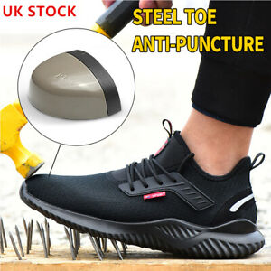 STEEL TOE CAP SAFETY WORK TRAINERS MENS BOOTS HIKING SPORTS SHOES SIZE SNEAKERS