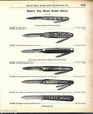1908 ADVERT 8 Page Boker Tree Brand Pocket Knife Knives Aluminum Full Size Image