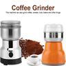 Electric Coffee Grinder Stainless Steel Blades Spices Nut Bean Mill Machine 220V