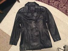 Womens S Jacqueline Ferrar Leather Non Insulated double breasted Coat Jacket