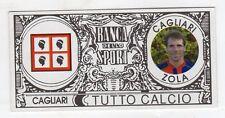 figurina - TUTTO CALCIO EURO MONETE  - CAGLIARI ZOLA