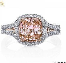Diamond Ring , Wedding Ring Cushion Cut Solitaire 3.5ct Diamond  On 925 Silver