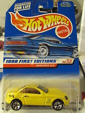 Hot Wheels Mercedes SLK 1998 First Editions Yellow 5sp