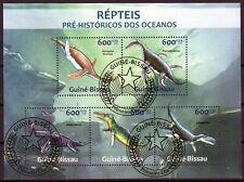 GUINE-BISSAU 2013 REPTEIS PRE-HISTORICOS DOS OCEANOS REPTILES STAMPS MNH CTO