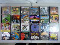 Vintage Windows PC Game Lot Of 24 Monkey Island Rayman 2 Tycoon Lego Fishing