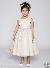 BNWT BHS Age 10/11 & 11/12 Champagne Satin Chiffon Butterfly Bridesmaid Dress